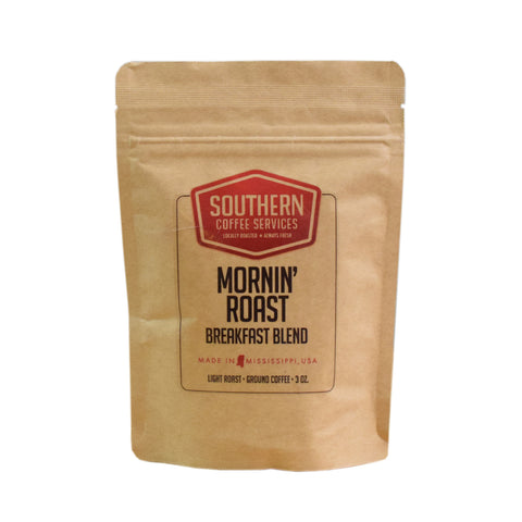 Mornin' Roast Breakfast Blend Coffee 3oz - TheMississippiGiftCompany.com