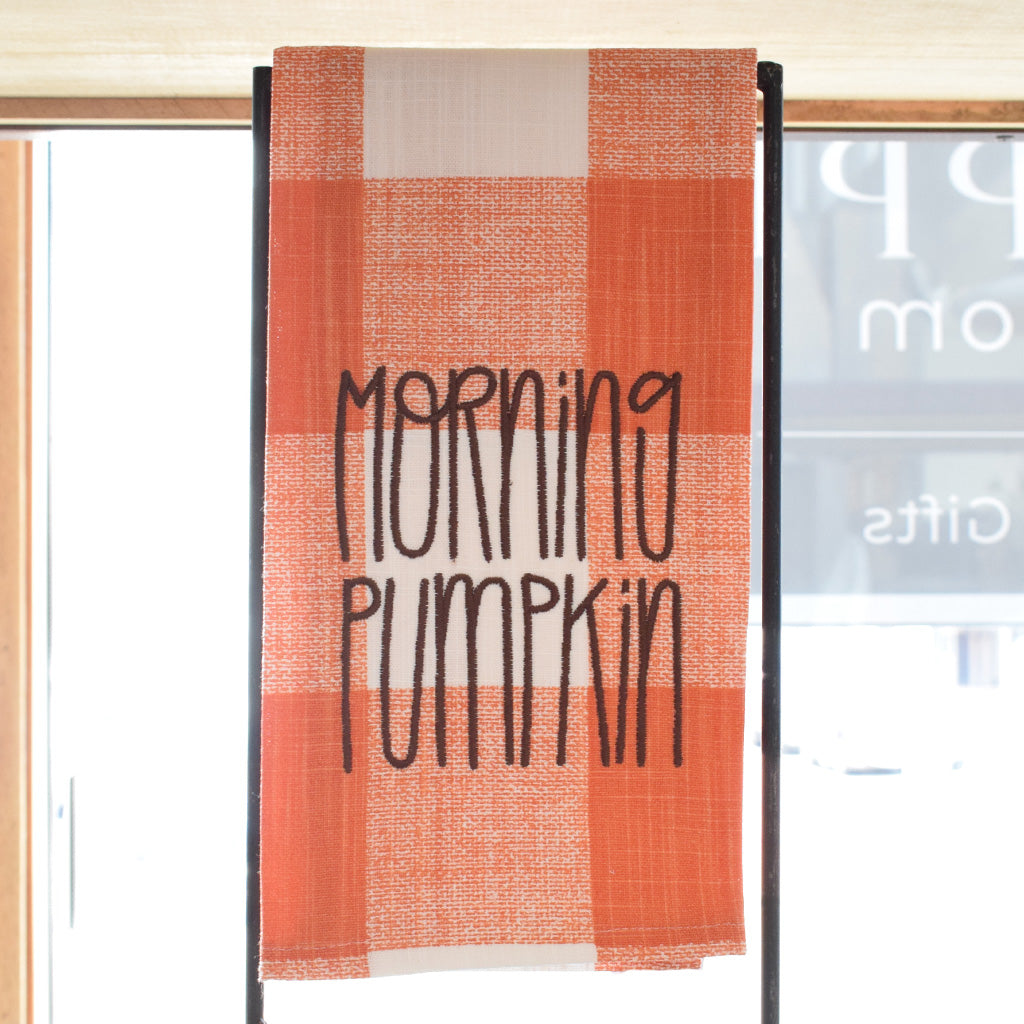 Morning Pumpkin Hand Towel