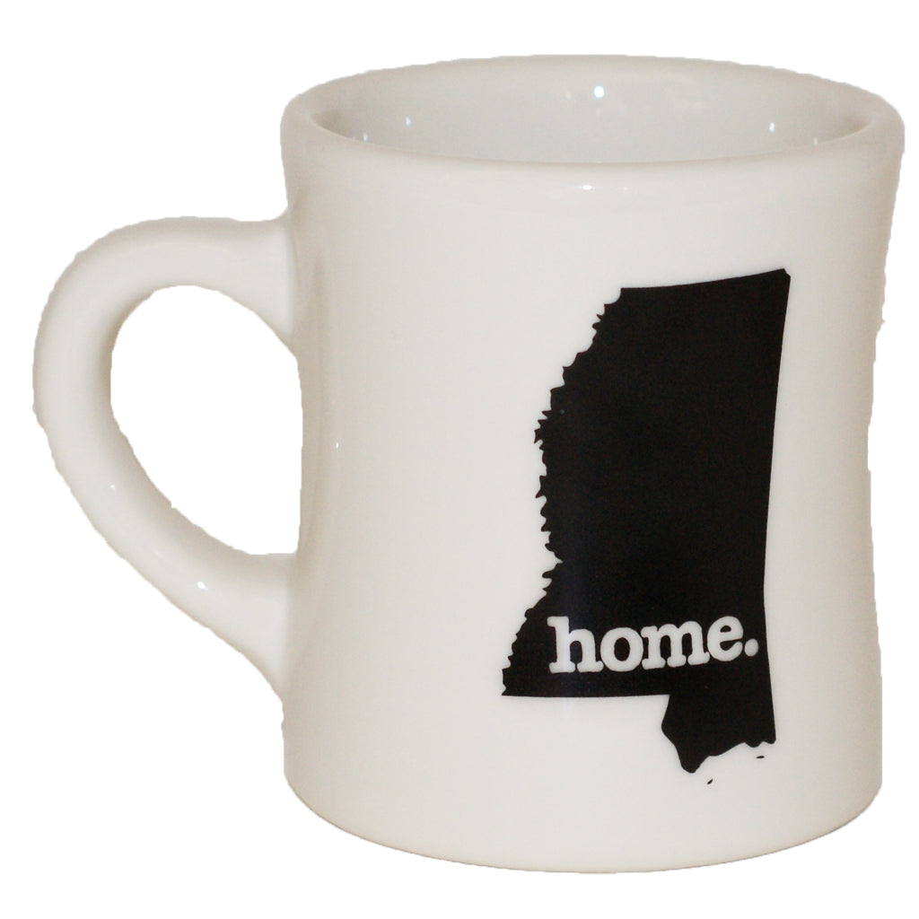 Mississippi Home State Diner Mug - TheMississippiGiftCompany.com