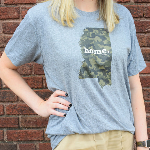 Camo Mississippi Home Tee - TheMississippiGiftCompany.com