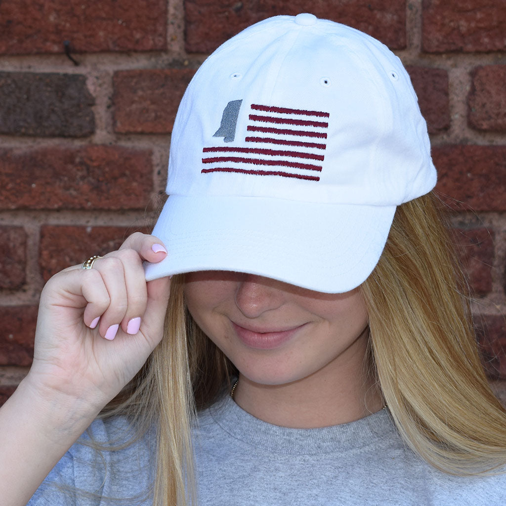 MSU Flag Hat - TheMississippiGiftCompany.com