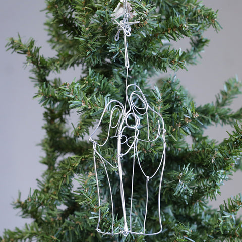 Holy Family Wire Ornament - TheMississippiGiftCompany.com