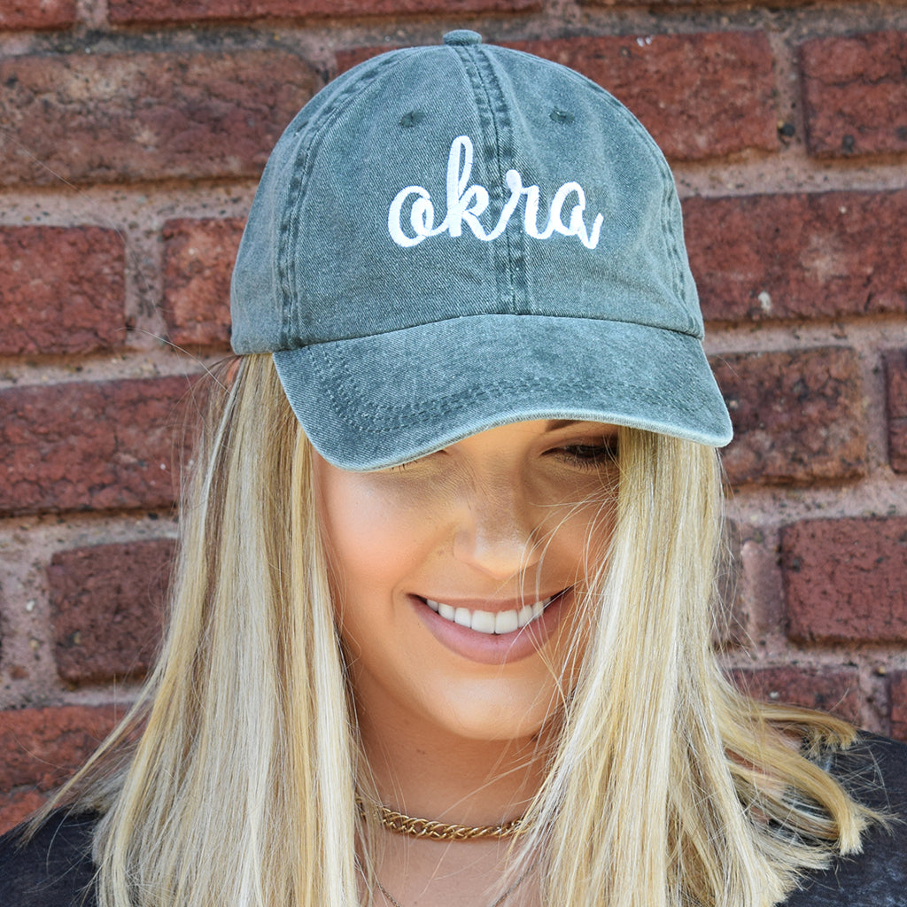Okra Green Hat - TheMississippiGiftCompany.com