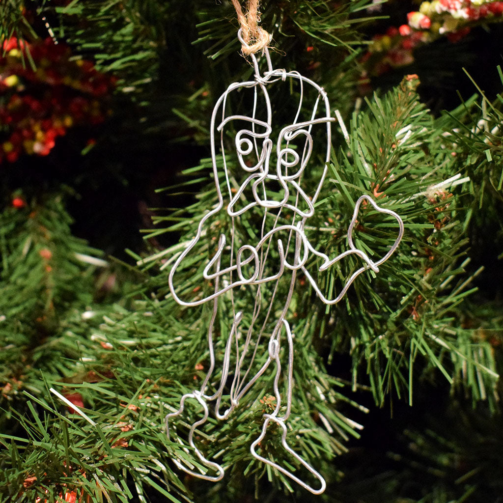 Fighting Okra Wire Ornament
