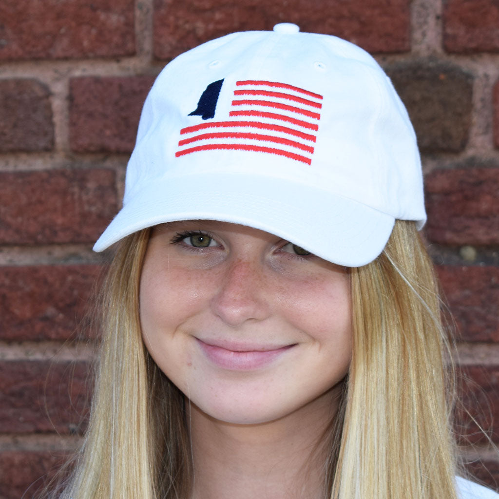 Ole Miss Flag Hat - TheMississippiGiftCompany.com