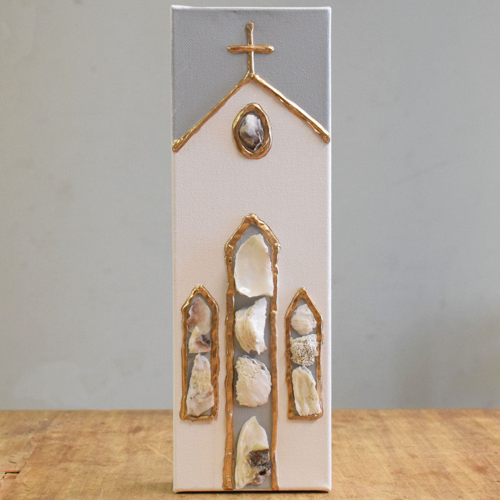 Chapel Oyster Canvas - TheMississippiGiftCompany.com