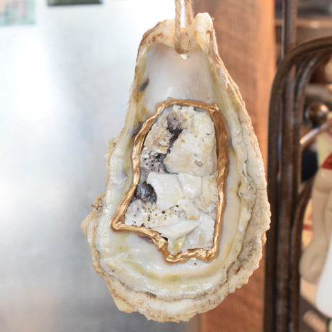 Mississippi Oyster Ornament - TheMississippiGiftCompany.com