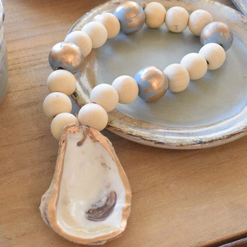 Oyster Shell Blessing Beads - TheMississippiGiftCompany.com