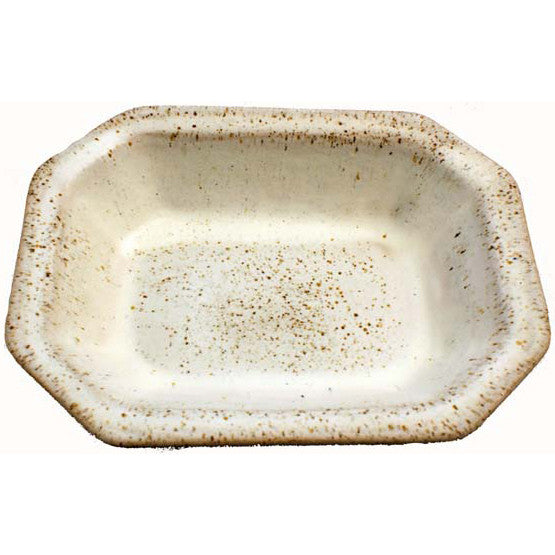 Small Rectangle Dish White - TheMississippiGiftCompany.com