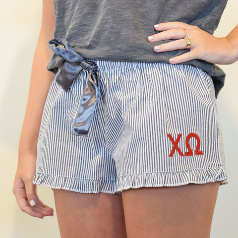 Sorority Sleep Shorts- Chi Omega