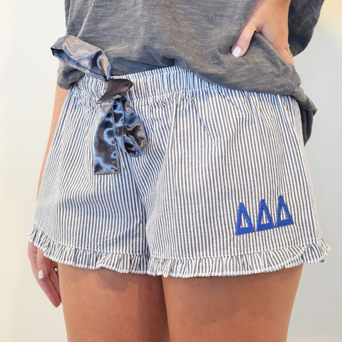 Sorority Sleep Shorts- Tri Delta