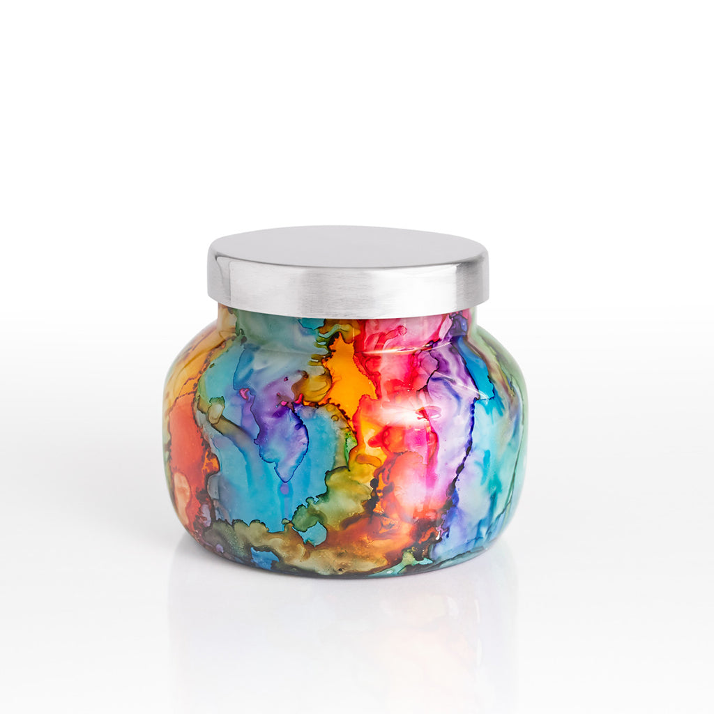 Volcano Rainbow Watercolor Candle-Small - TheMississippiGiftCompany.com