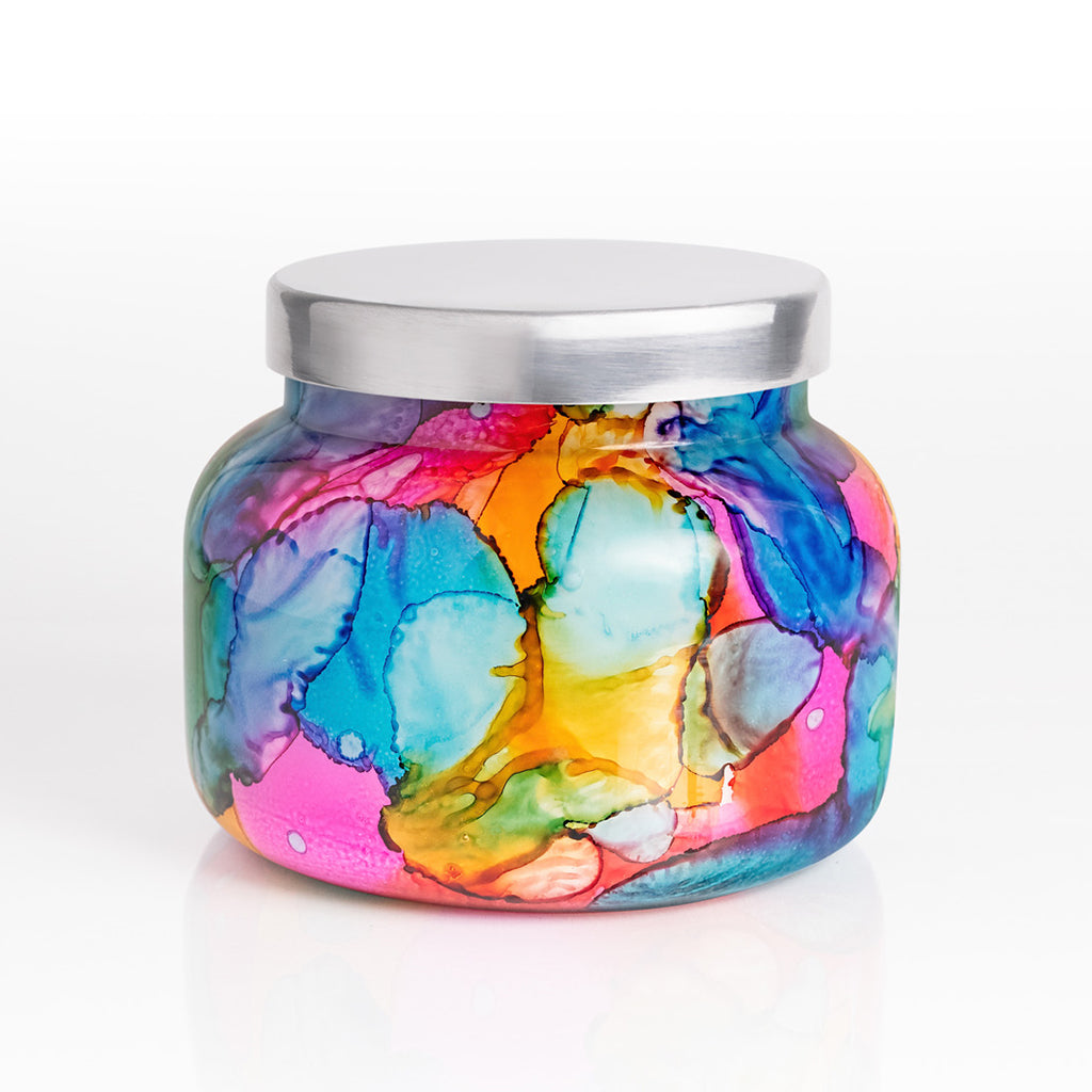 Volcano Rainbow Watercolor Candle-Large - TheMississippiGiftCompany.com