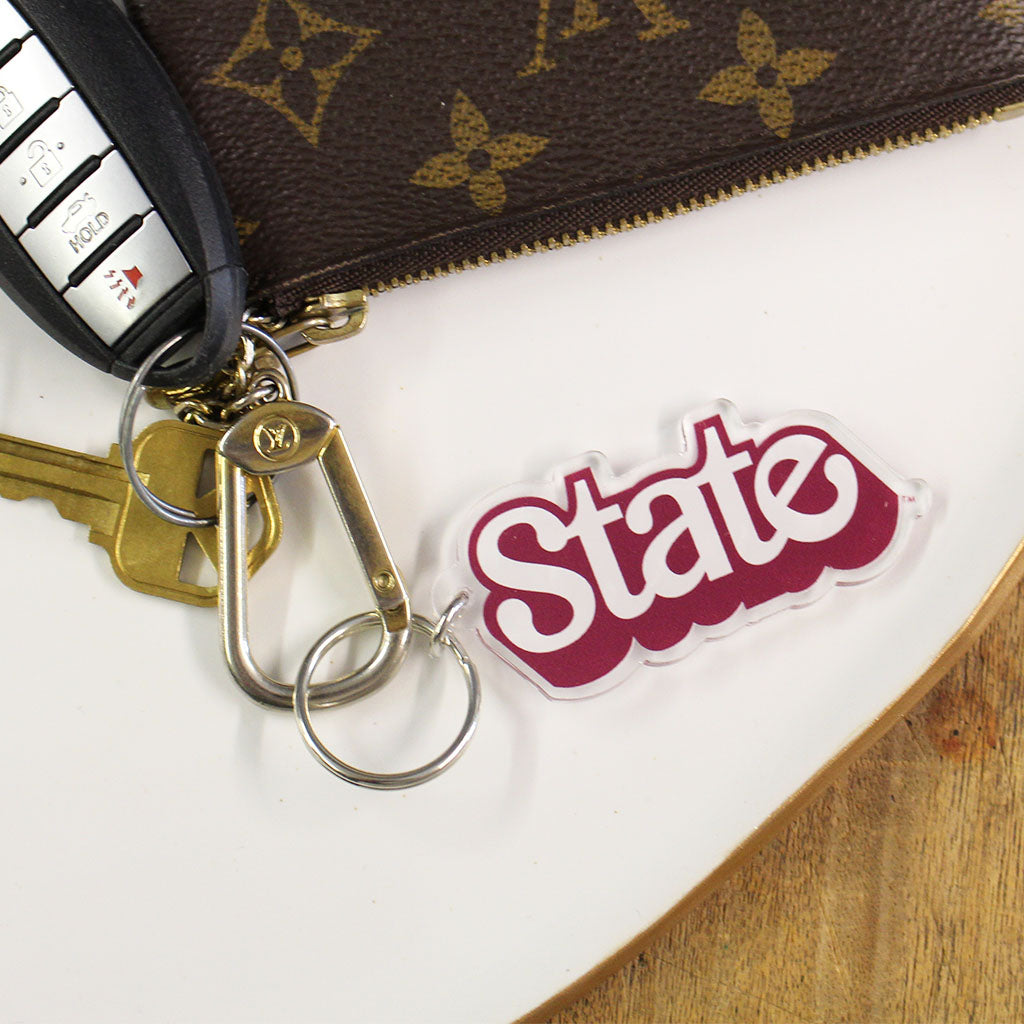 Tilted State Key Chain