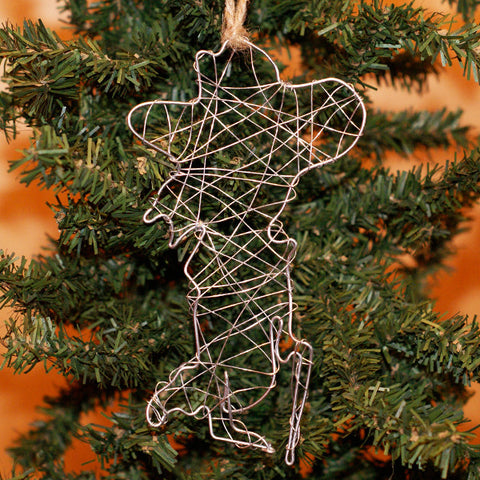 Colonel Full Body Silhouette Wire Ornament - TheMississippiGiftCompany.com