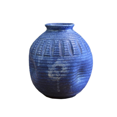 "7.5"" Round Ball Vase Blue - TheMississippiGiftCompany.com"
