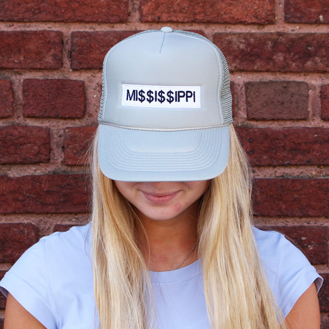 Mi$$i$$ippi Trucker Hat-Gray