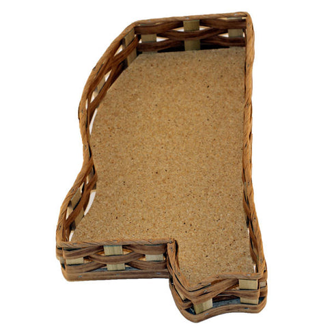 Unfilled Mississippi Shaped Basket Small - TheMississippiGiftCompany.com
