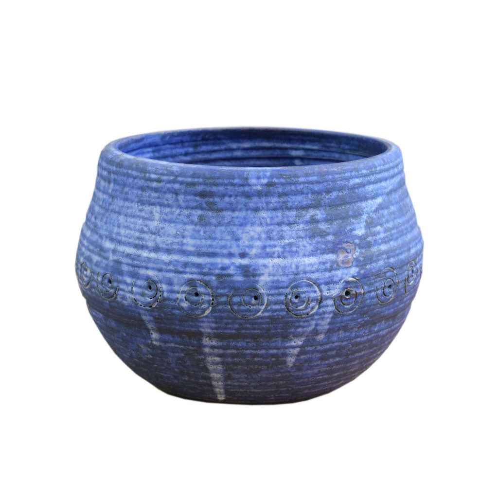 Small Christening Bowl Blue - TheMississippiGiftCompany.com