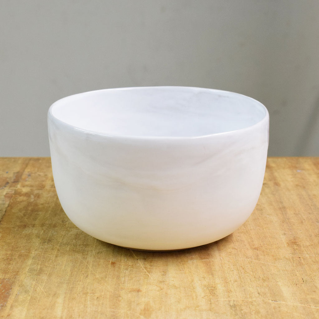 Small Mixing Bowl Simply White - TheMississippiGiftCompany.com