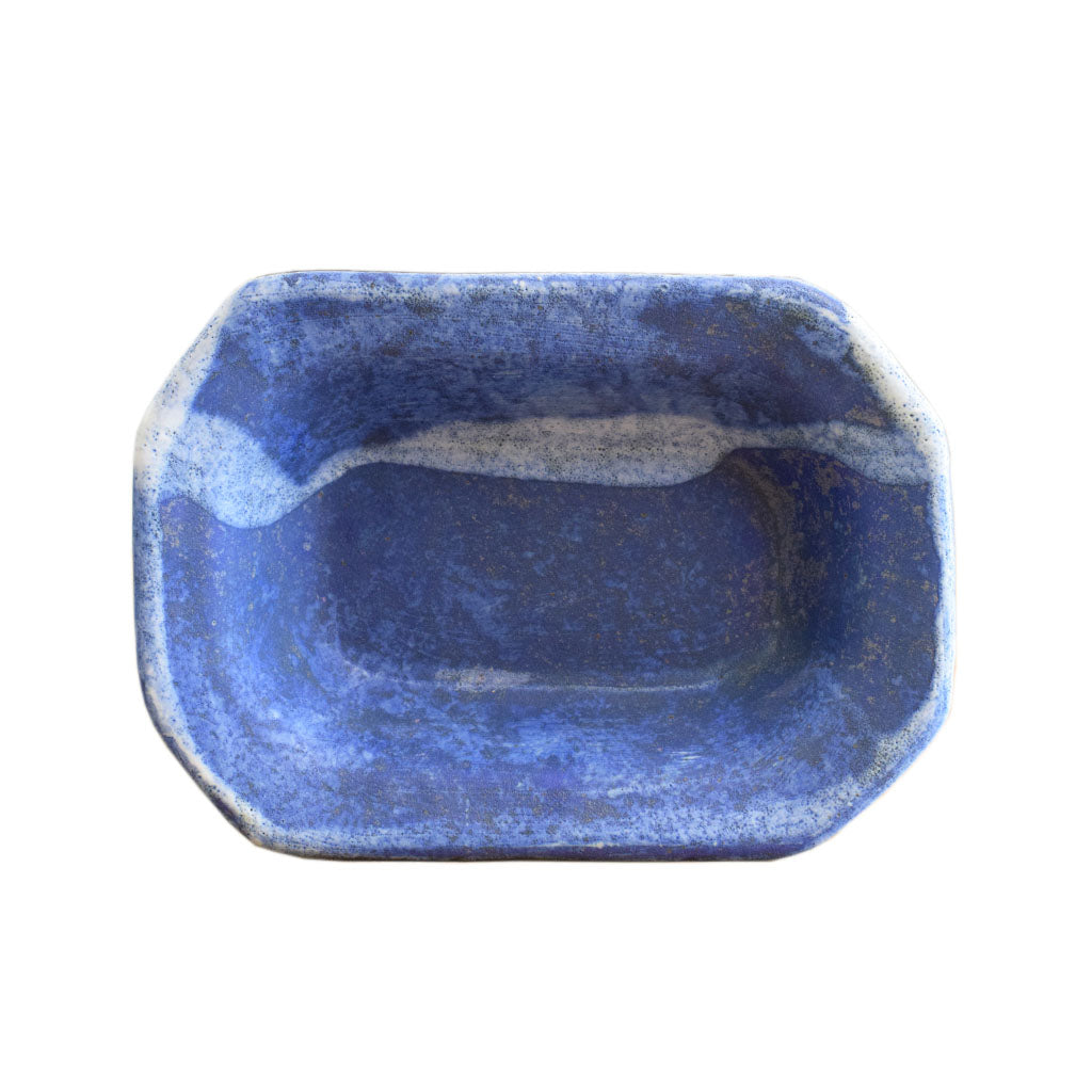 Small Rectangle Bowl Blue - TheMississippiGiftCompany.com