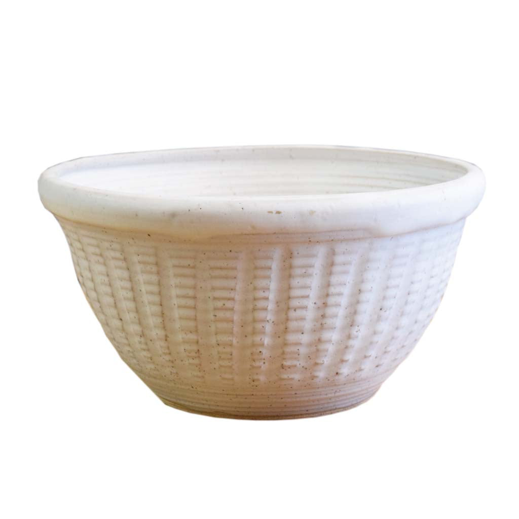 Small Punch Bowl White - TheMississippiGiftCompany.com