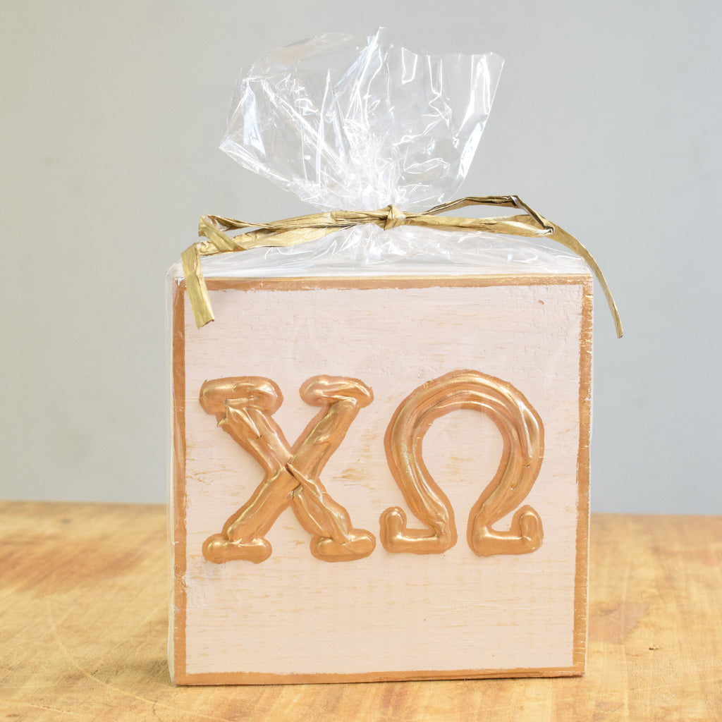 Sorority Wooden Block - TheMississippiGiftCompany.com