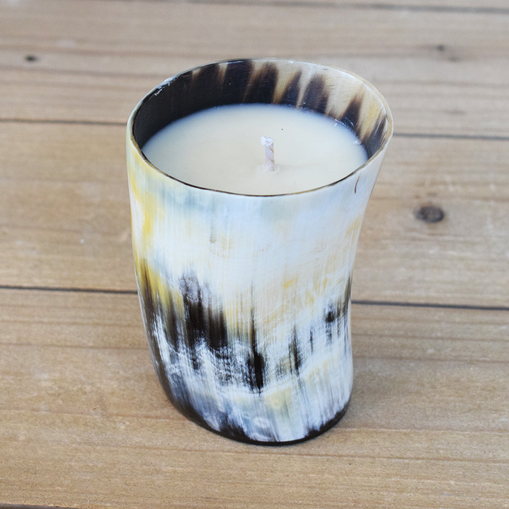 SoDelta Horn Candle-Medium - TheMississippiGiftCompany.com