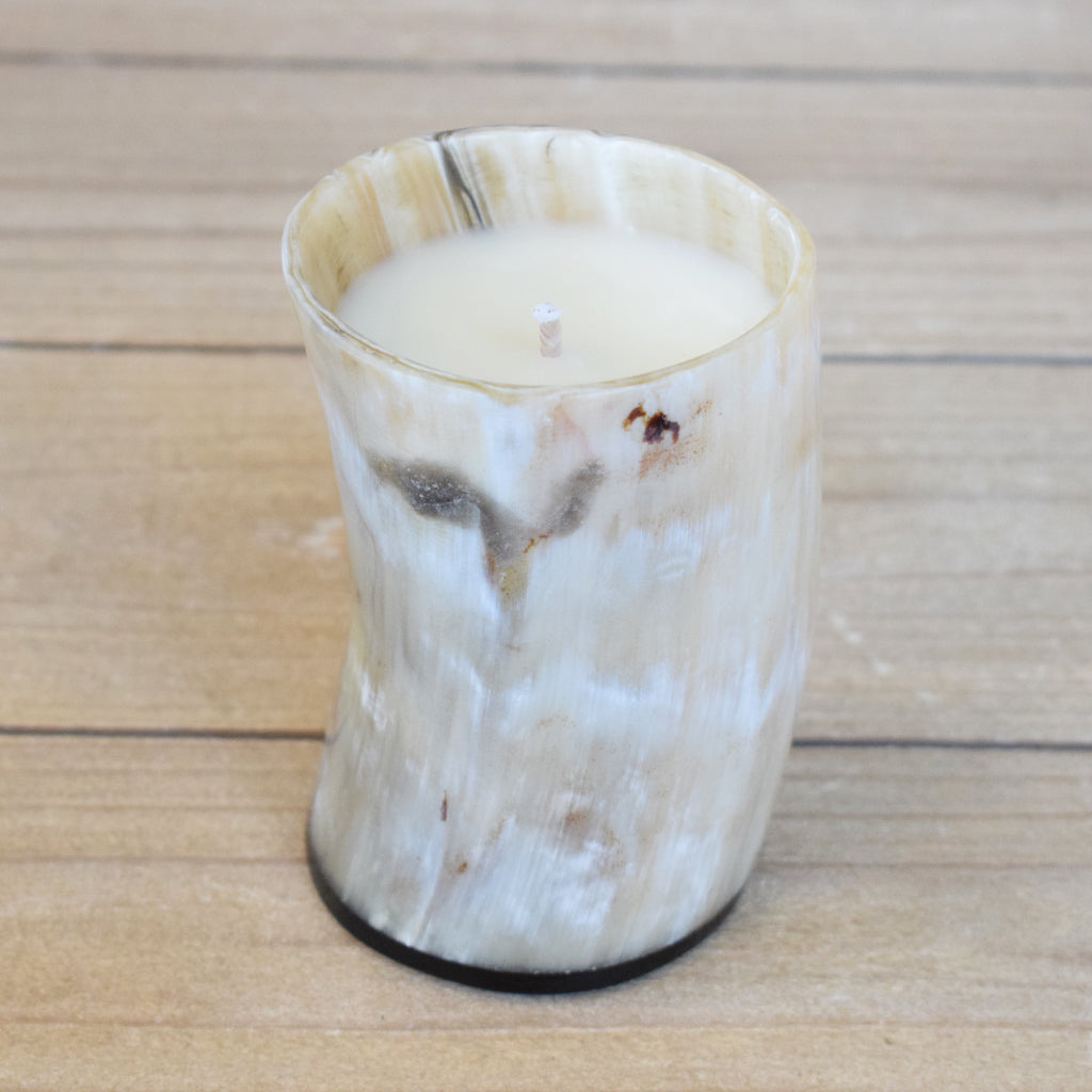 Horn Candle-Small - TheMississippiGiftCompany.com