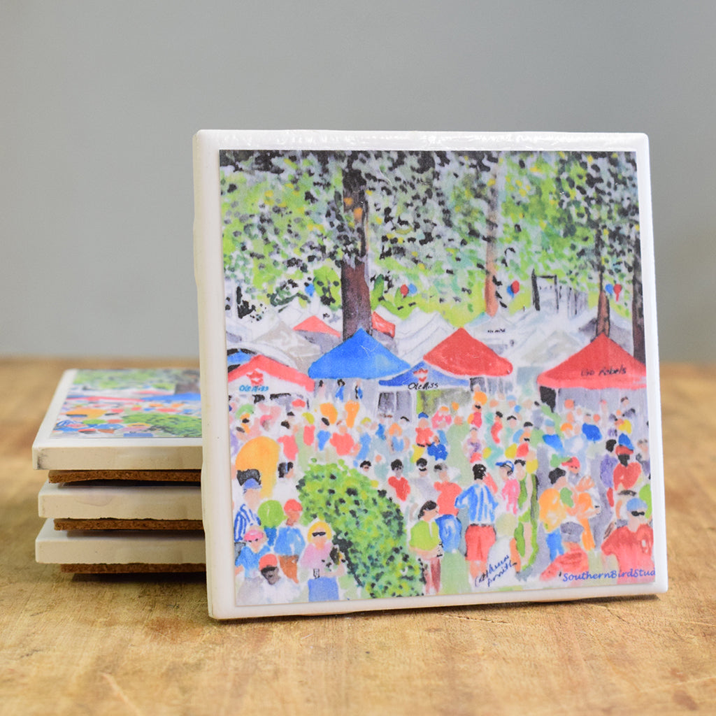 The Grove Hand Painted Coaster Set - TheMississippiGiftCompany.com