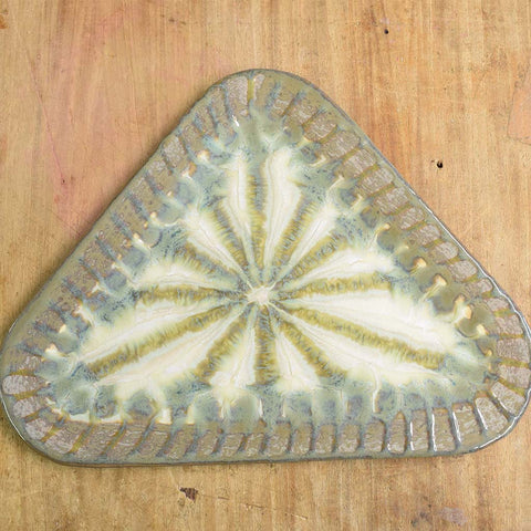 Sparrow Large Triangle Plate - TheMississippiGiftCompany.com