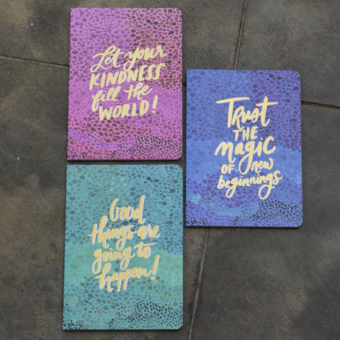 Set of Three Notebooks- Spotted