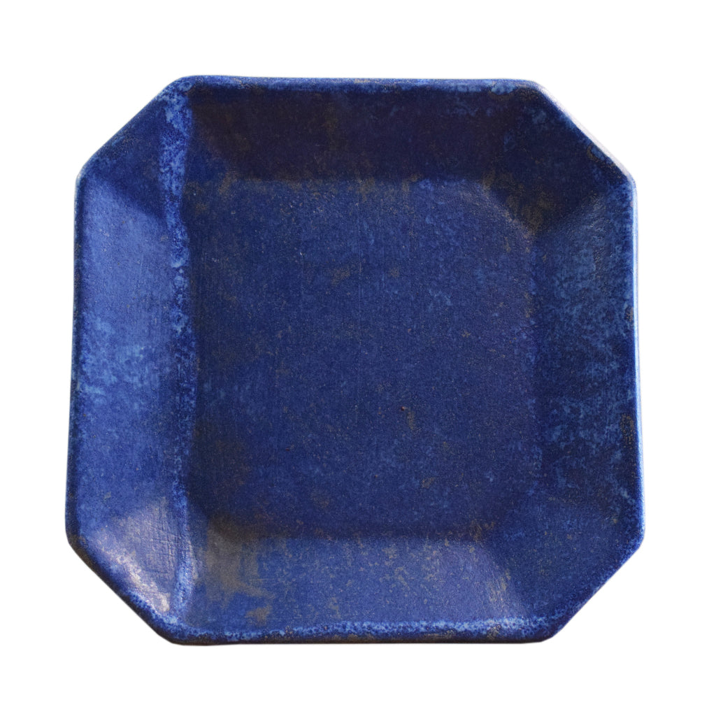 Square Plate Blue - TheMississippiGiftCompany.com