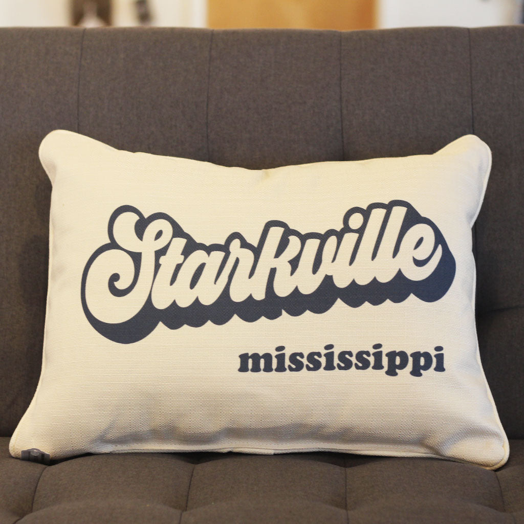 Starkville MS Groovy Rectangle Pillow