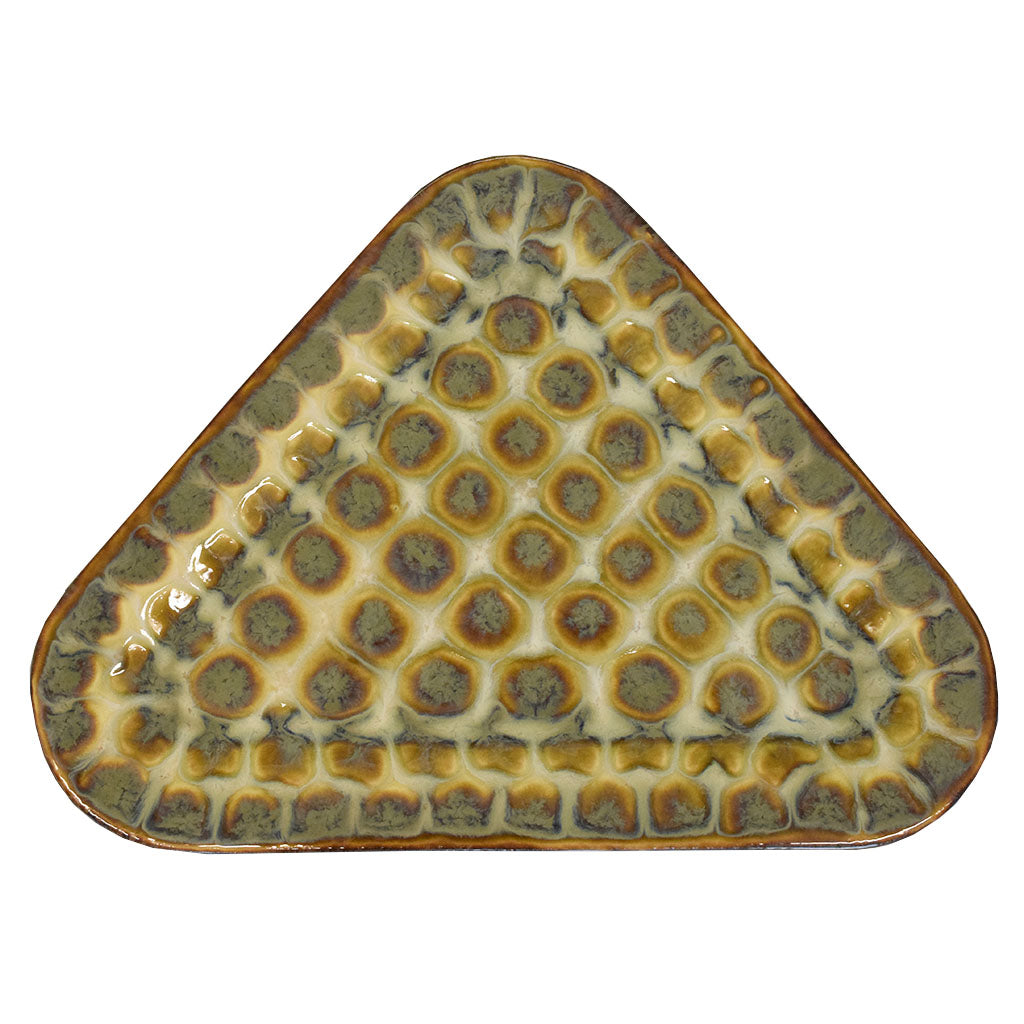 Swallowtail Large Triangle Plate - TheMississippiGiftCompany.com