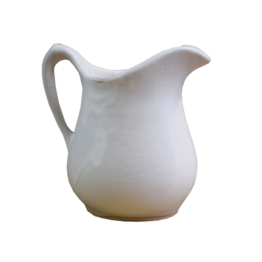Medium Syrup Pitcher White