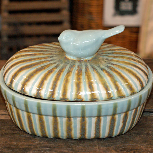 Teal Large Casserole - TheMississippiGiftCompany.com