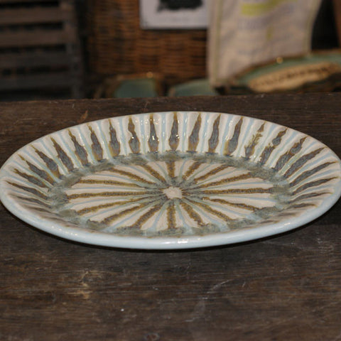Teal Medium Oval Platter - TheMississippiGiftCompany.com