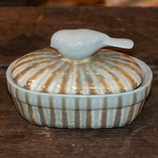 Teal Small Casserole - TheMississippiGiftCompany.com