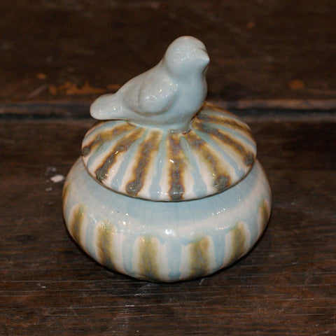 Teal Sugar Bowl - TheMississippiGiftCompany.com