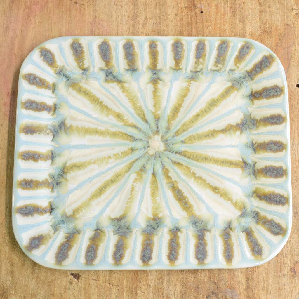 Teal Large Rectangle Plate - TheMississippiGiftCompany.com