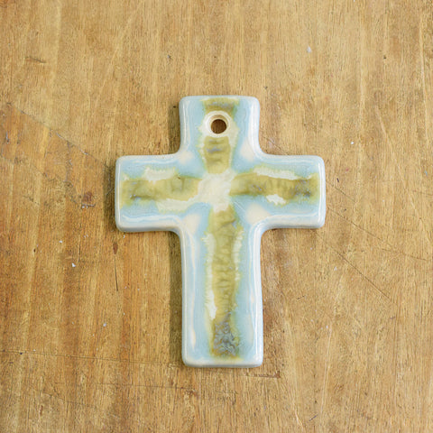 Teal Small Plain Cross