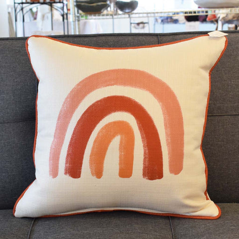 Terra Cotta Rainbow Square Pillow - TheMississippiGiftCompany.com