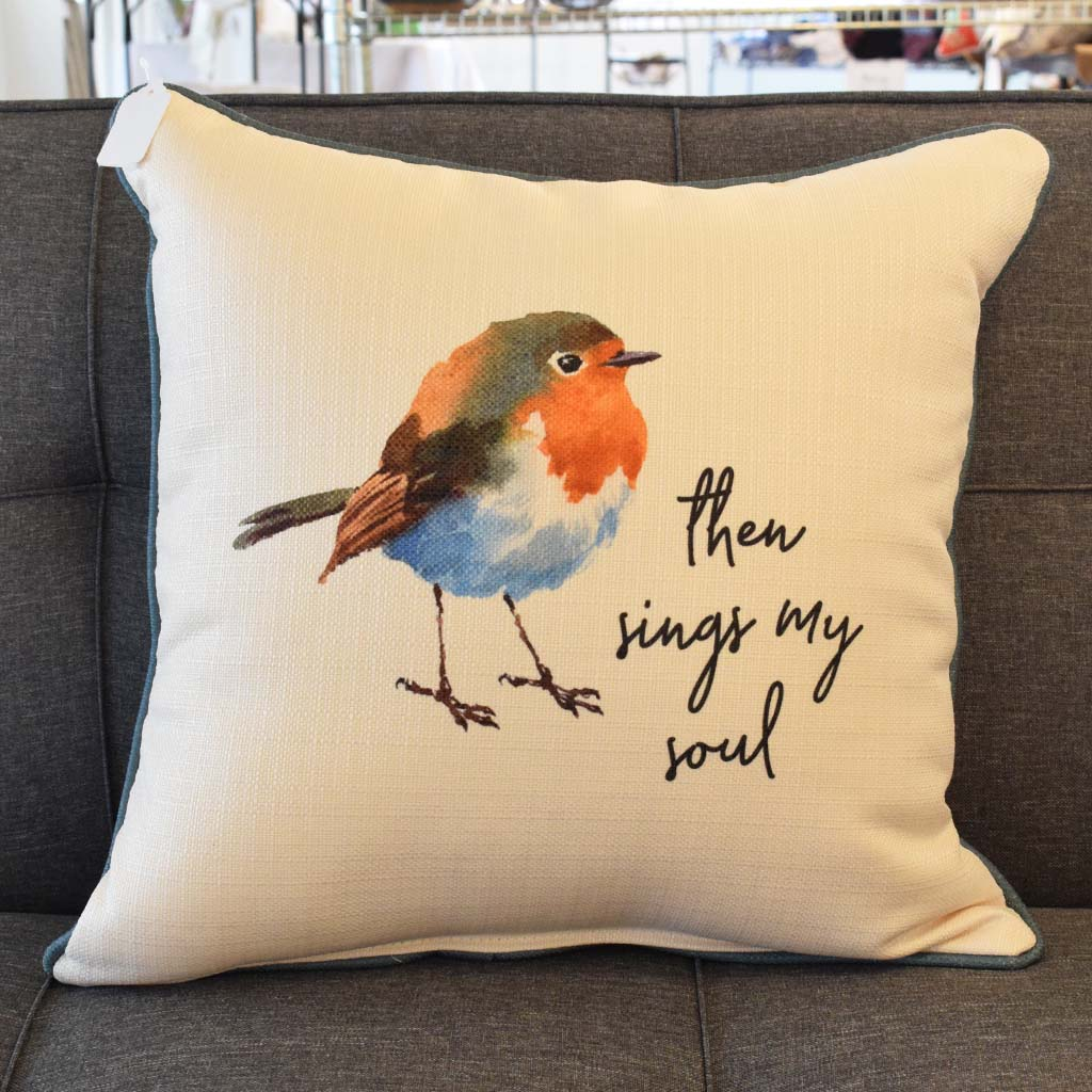 Then Sings My Soul Square Pillow - TheMississippiGiftCompany.com