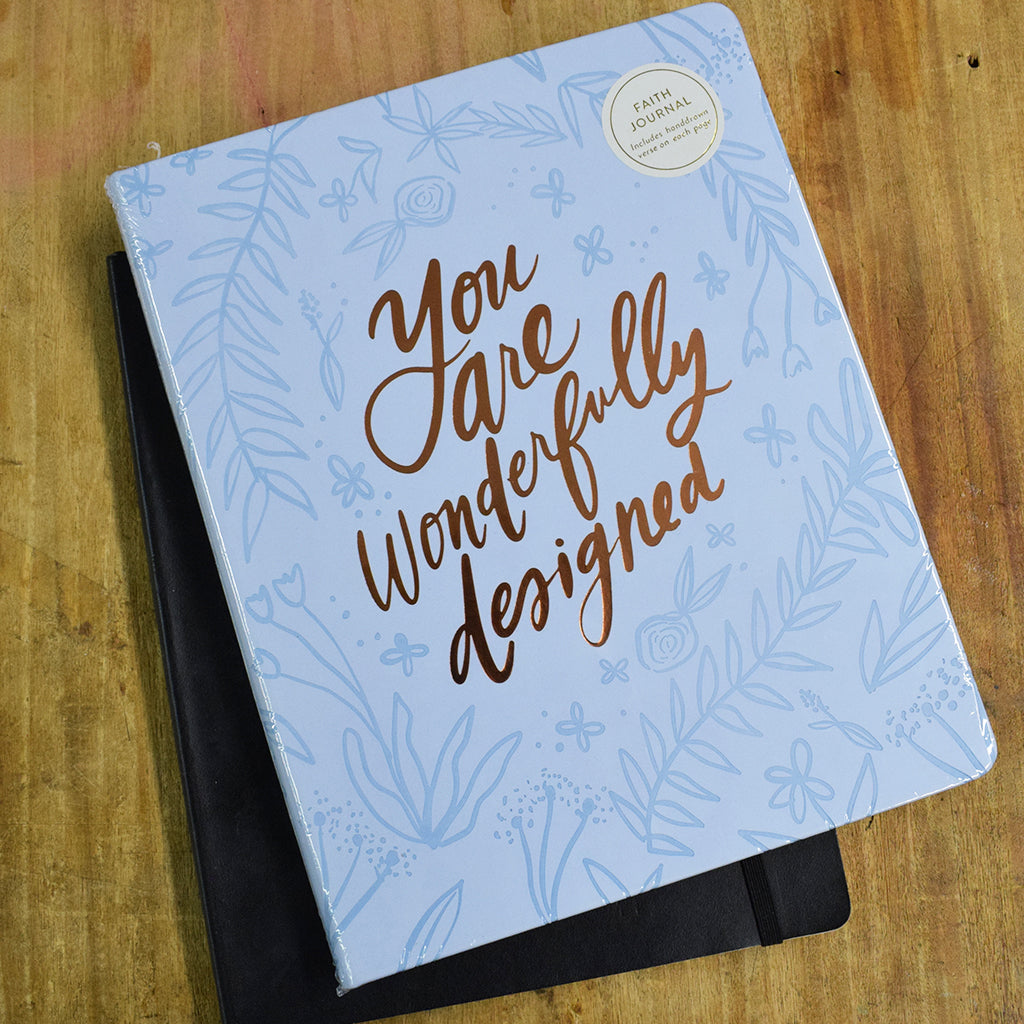 You Are Wonderfully Designed Journal - TheMississippiGiftCompany.com
