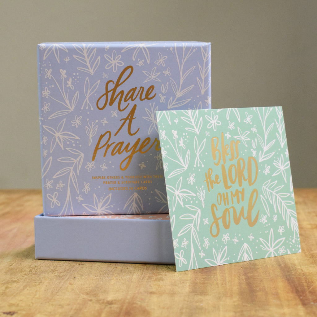 Share a Prayer Cards-Blue - TheMississippiGiftCompany.com