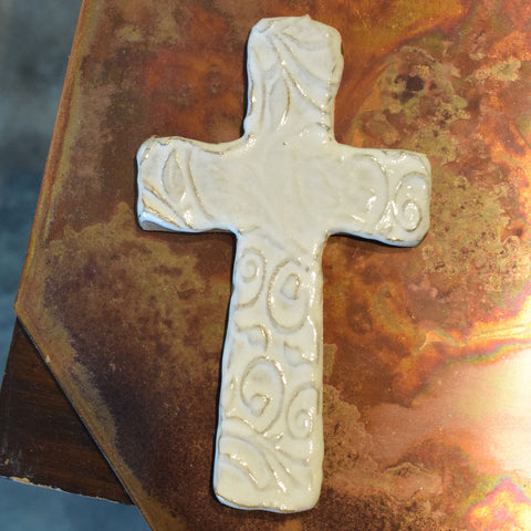 Three E Designs Medium Cross White - TheMississippiGiftCompany.com