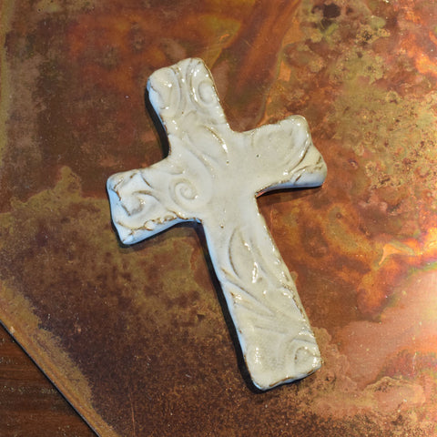 Three E Designs Mini Cross White - TheMississippiGiftCompany.com