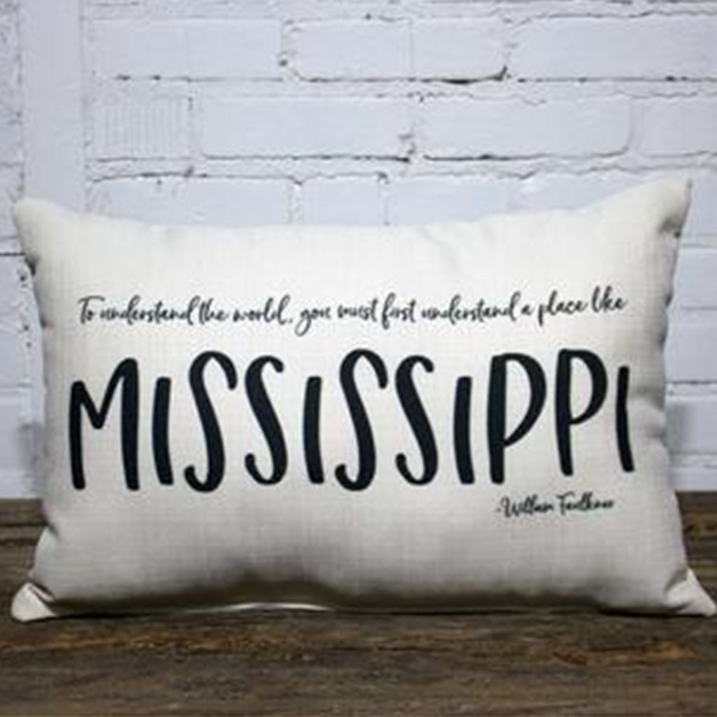 To Understand Mississippi Rectangle Pillow - TheMississippiGiftCompany.com