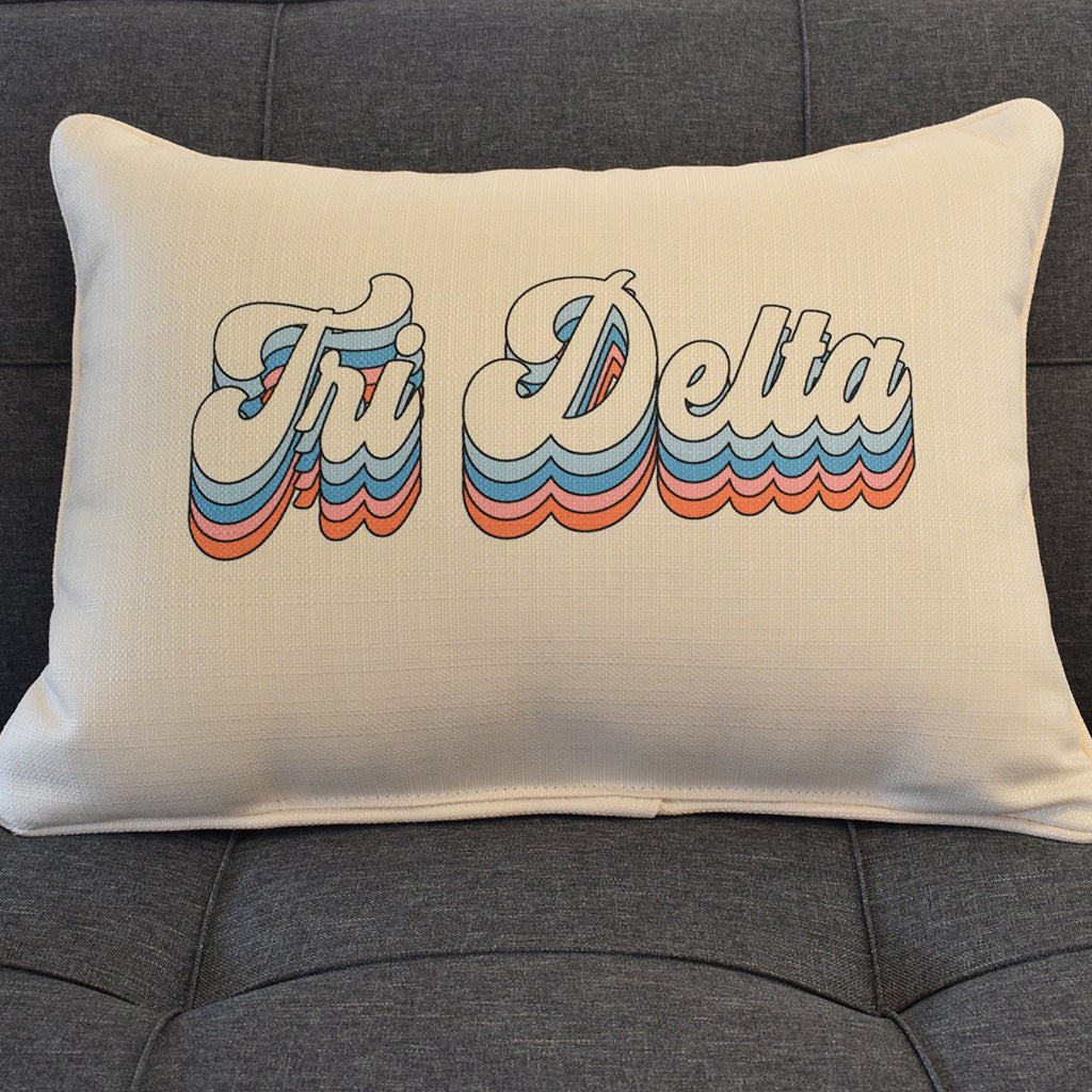 Tri Delta Groovy Rectangle Pillow